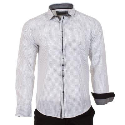 72fbdf3afc5c Ανδρικό Μακρυμάνικο Πουκάμισο Slim Fit CND Shirts 550-27 Λευκό