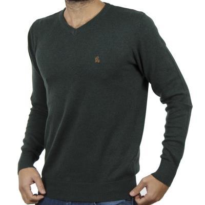 497dd2f04623 Ανδρικό Πλεκτή Μπλούζα V-Neck Garage55 GAM202-09218 Pesto