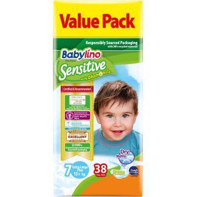 e29403e480c Πάνες Babylino Sensitive No7 (17+Kg) Value Pack 38τμχ