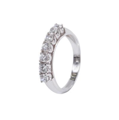 Γυναικείο δαχτυλίδι σειρέ σε λευκό χρυσό Κ14 με ζιργκόν 2f4842bc353