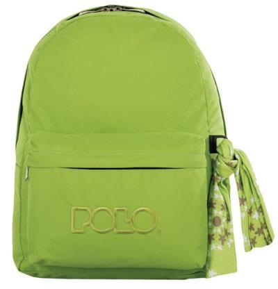 76f189d522 Σχολική τσάντα POLO CLASSIC με Μαντήλι Λαχανί 9-01-135-57 (2017)