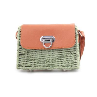 86399b5b0e Γυναικείες τσάντες ώμου ψάθινες Πράσινο