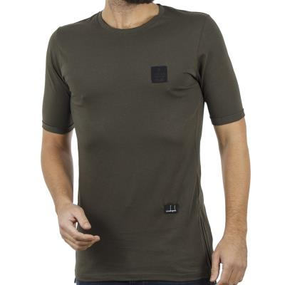 e75230aefd60 Ανδρικό Κοντομάνικη Μπλούζα T-Shirt COVER LUPO Y204 Χακί