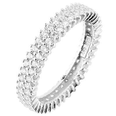Λευκόχρυσο ολόβερο δαχτυλίδι Κ14 με ζιργκόν 9f9b48a7050
