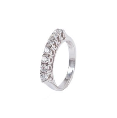Γυναικείο δαχτυλίδι σειρέ σε λευκό χρυσό Κ14 με ζιργκόν c355453e9af