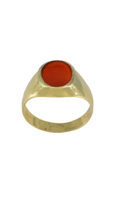 Ανδρικό δαχτυλίδι χρυσό 14 καράτια με κόκκινη πέτρα de5a9131f8e