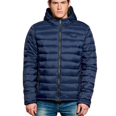 Ανδρικό Φουσκωτό Μπουφάν Puffer Jacket με Κουκούλα DEELUXE74 SUNSHINE  W18644NAV c3e6004d27b