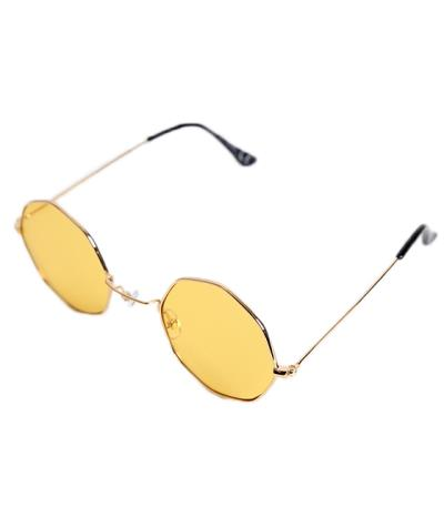 8d5d4058ac Γυαλιά ηλίου με κίτρινο φακό και χρυσό σκελετό