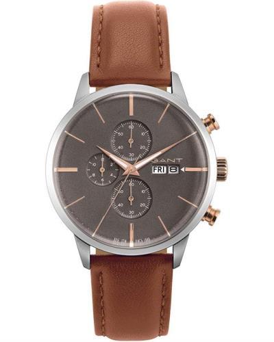 94c692ea2cce GANT Asheville Chronograph Brown Leather Strap