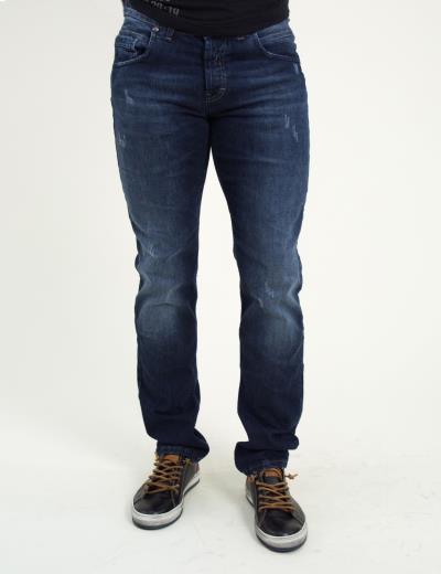 78281df5efa4 Ανδρικό μπλε τζην παντελόνι φθορές ξεβάμματα Trial Marvin 18B