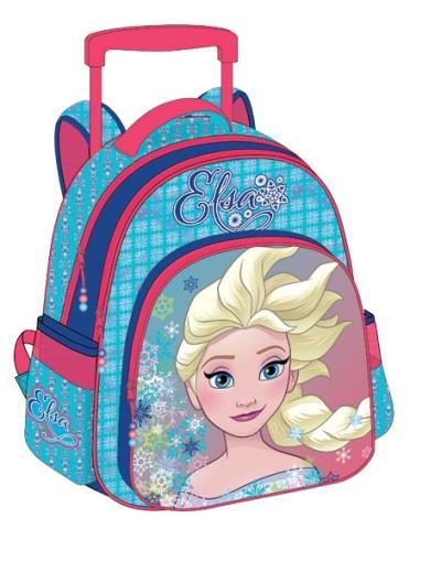 480e1507760 Σχολική τσάντα Δημοτικού τρόλευ FROZEN ANNA & ELSA με 3 θήκες 32x43x18cm  0561712