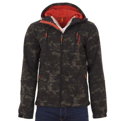 Ανδρικό Μπουφάν Jacket SPLENDID 38-201-075 Χακί παραλλαγής 3e175050efe
