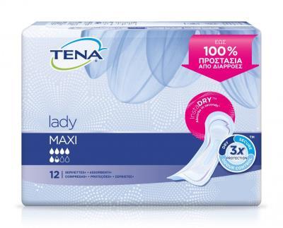 Tena Lady Maxi InstaDry Πολύ Απορροφητικές Σερβιέτες Ακράτειας 19cd023c918