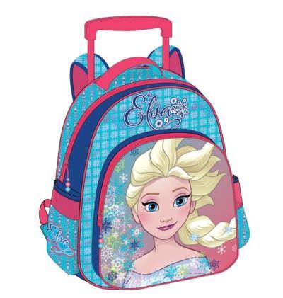 53c0d47468d Σχολική τσάντα νηπίου τρόλεϋ FROZEN ANNA & ELSA με 2 θήκες 27x31x10cm  0561709