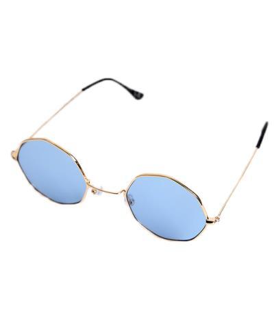 82123bf95b Γυαλιά ηλίου με μπλε φακό και χρυσό σκελετό
