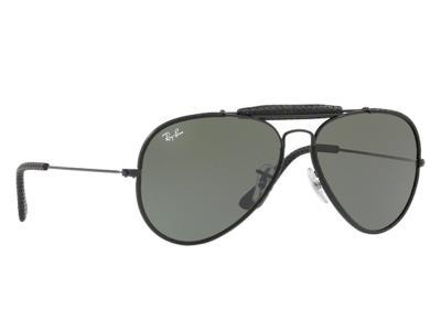 Γυαλιά ηλίου Ray-Ban RB 3422-Q 9040 Leather Μαύρο Γκρι Πράσινος (9040)  Κρύσταλλο 4f82bfa1aa0