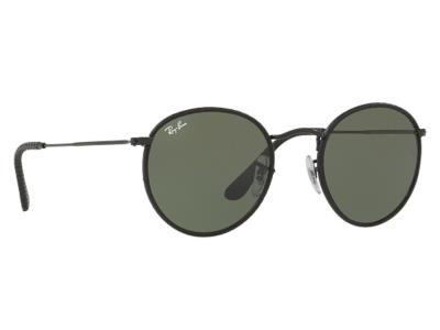4ac675f65d Γυαλιά ηλίου Ray-Ban Round Craft RB 3475Q 9040 Μαύρο Δέρμα Γκρι Πράσινο  (9040) Κ