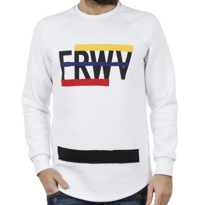544972770771 Ανδρικό Μακρυμάνικη Μπλούζα FREEWAVE 82121 Λευκό