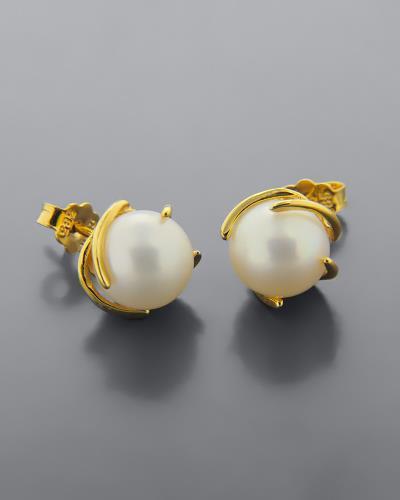b27c955c7e kosmimata χρυσο σκουλαρικια μαργαριταρια - Totos.gr