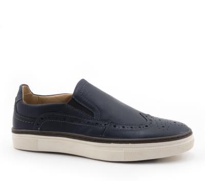 Δερμάτινα Παπούτσια Μπλε Ανδρικά 300023BLU 5be22b6c1a3