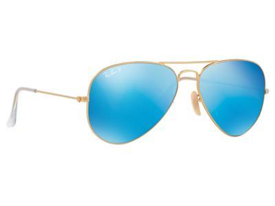 17e1173c4f Γυαλιά ηλίου RayBan Aviator Flash Lenses 3025 112 4L Polarized Χρυσό  Ματ Μπλε Έν