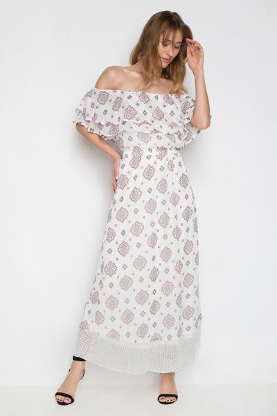 Γυναικείο Φόρεμα Only - Zoe Offshoulder Maxi eee4e0e921c