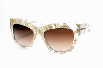 50bb8a797bdd New Sunglasses Dolce   Gabbana Almond Flowers DG 4231 285113 GOLD LACE BROWN