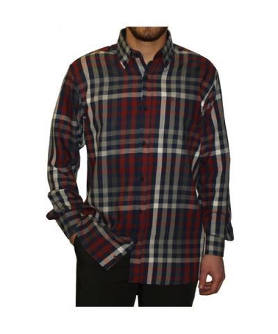 a5f461e67679 ανδρικά μπλε κοκκινο πουκαμισο - Totos.gr