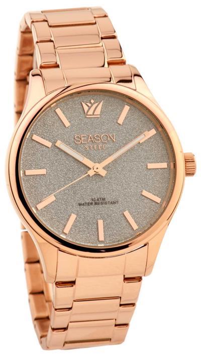 Ρολόι Season Time Illusion Steel Series με ροζ χρυσό μπρασελέ 5-2-18-5 fdb0bedf275