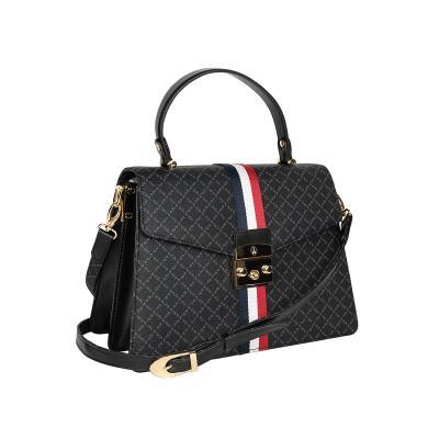 44fda9bbfa Τσάντα Ώμου-Χειρός Με Ρίγα La Tour Eiffel Logo-Δέρμα 171033 Μαύρη