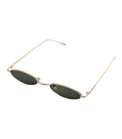 124b04a8dd Γατίσια γυαλιά ηλίου με πράσινο φακό και χρυσό σκελετό