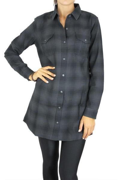 fba08bf2e543 Obey πουκάμισο-φόρεμα Abbey σε καρό φανέλα - 401500097