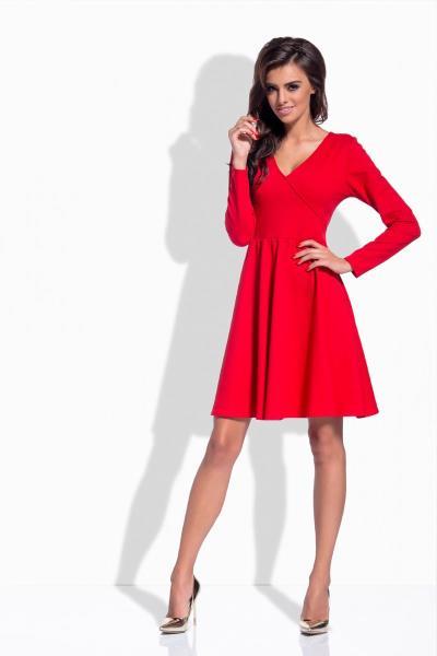 c3482ffeff52 Κλος μακρυμάνικο μίνι φόρεμα - Κόκκινο