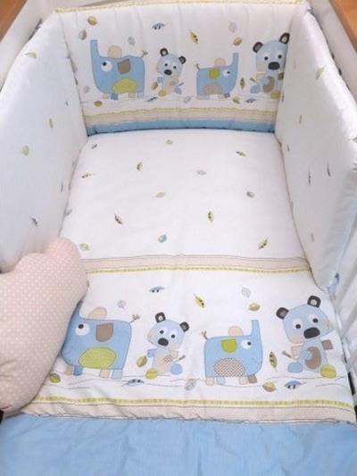 474aedcb51d Σετ προίκας μωρού 3 τεμ. για το κρεβατάκι Baby Star Lulu Σιέλ