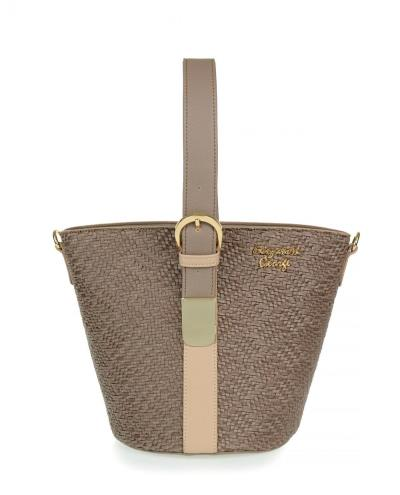be4cab5ee9 Τσάντα χειρός veta μπεζ σκούρο (Elizabeth George