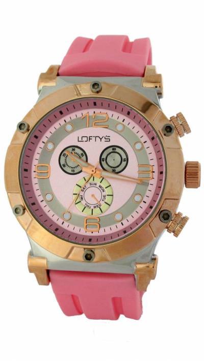 Loftys ρολόι με ροζ λουρί Y8413 Γυναικείο ρολόι 702e1b157b4