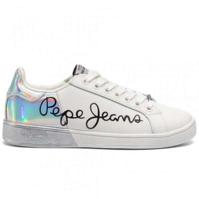 0fb83023d71 Pepe Jeans Brompton Mania PLS30864 White 800 Λευκά Γυναικεία Sneakers Pepe  jeans