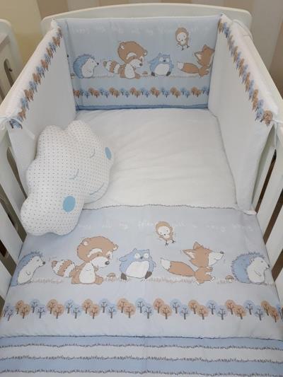 a203b6def8b Σετ προίκας μωρού 3 τεμ. για το κρεβατάκι Baby Star Odette Σιέλ