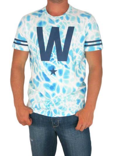 Wesc ανδρικό t-shirt W Star λευκό-μπλε - 152we-00002-bl 763bbea7a77