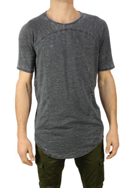 Anerkjendt longline t-shirt Tube σκούρο γκρι μελανζέ - 9216357 0d8daa9cd61