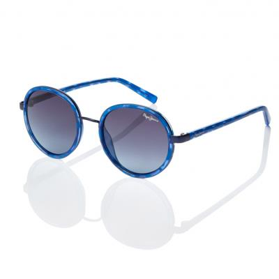 21f7aabc3f Sunglasses Pepe Jeans Elaine PJ 7262 C3 Women Blue Round