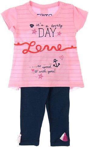 Εβίτα παιδικό σετ μπλούζα-παντελόνι κολάν κάπρι