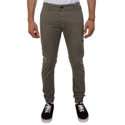 Ανδρικό Παντελόνι με λάστιχο Damaged jeans D32 Χακί 790907afbac