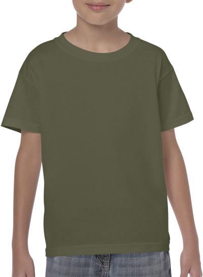 e8d507c693 Παιδικό Heavy Youth T-Shirt Gildan 5000B - Military Green