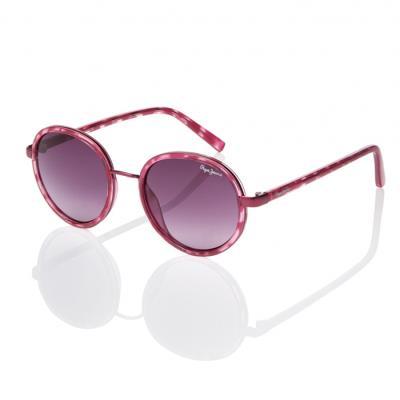 2dbe75bd43 Sunglasses Pepe Jeans Elaine PJ 7262 C4 Women Pink Round Gradient