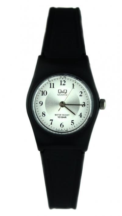 4bbecf22e7 Ρολόι Q Q 100m αδιάβροχο με μαύρο λουράκι VP35J012Y