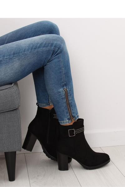 Μποτάκια σουέτ ψηλοτάκουνα με τρουκς στο τακούνι - Μαύρο. Άμεσα διαθέσιμο.  fashioneshop.gr ... 0e3537638f8