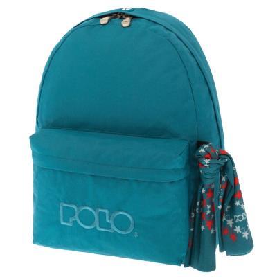 6c76962df4 Τσάντα σακίδιο με μαντήλι γαλάζιο 9-01-135-55 Polo