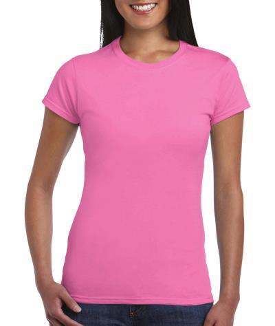 b2732d85495d Γυναικείο Fitted Ring Spun T-Shirt Gildan 64000L - Azalea