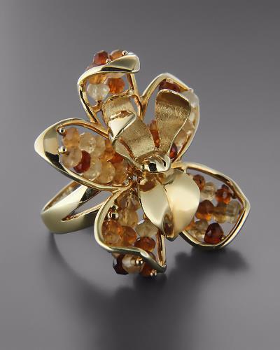 Χειροποίητο δαχτυλίδι χρυσό Κ14 με Τοπάζι 7800637bd10